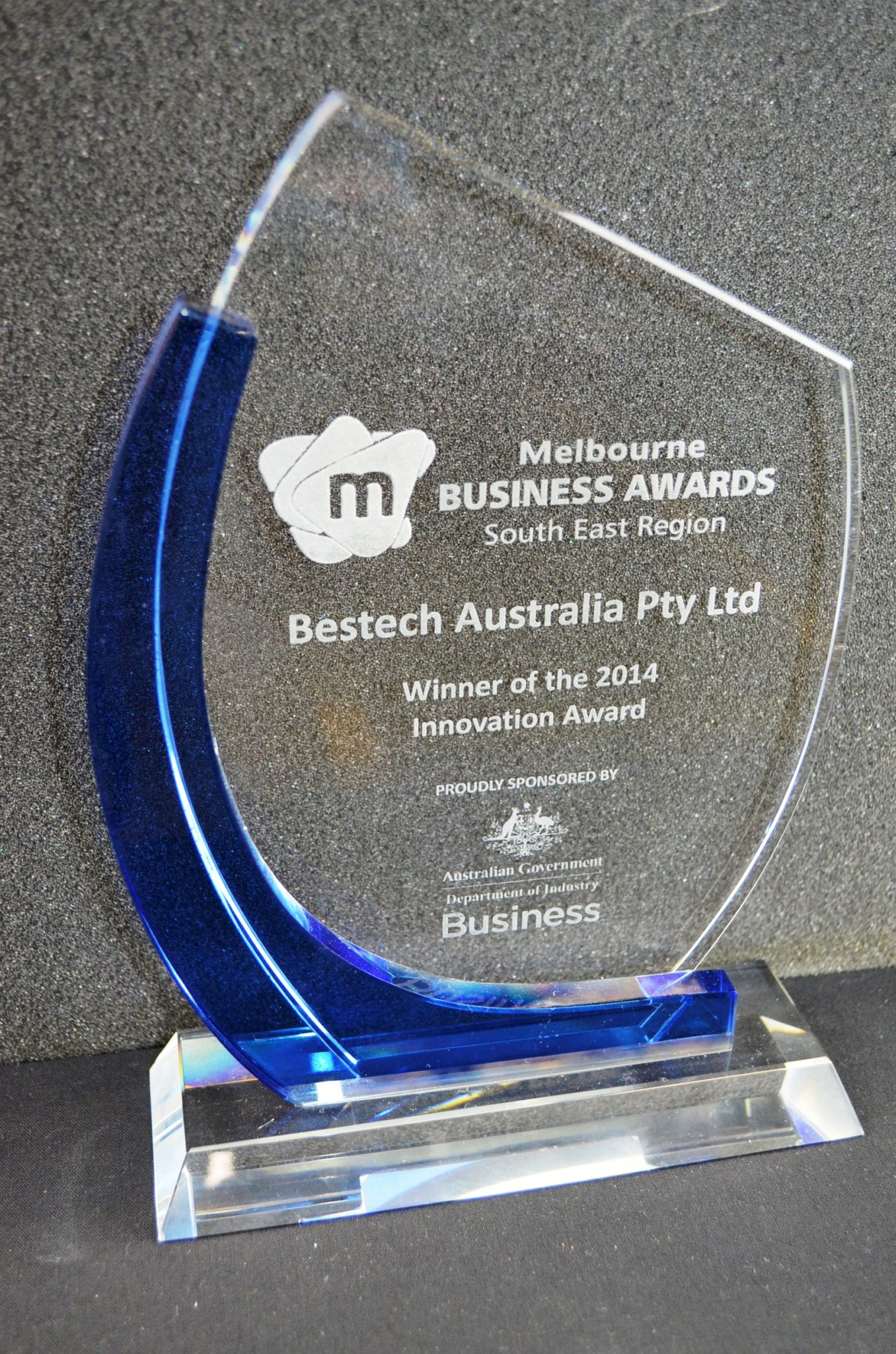 Melbourne Business Award 2014 Trophy