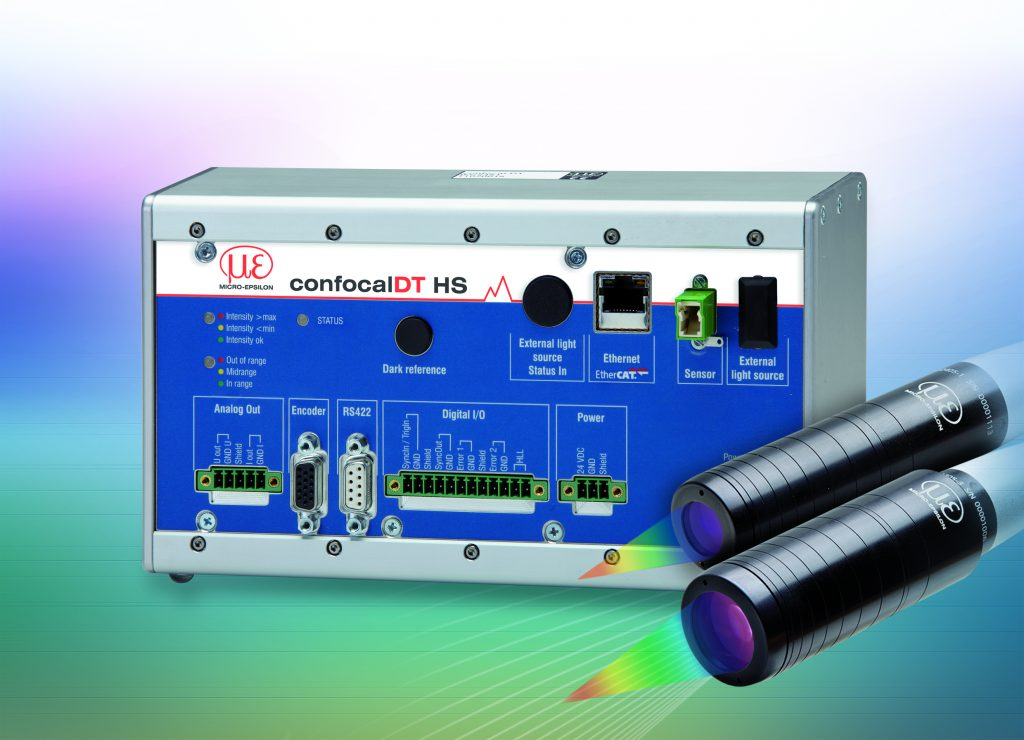 Spectracular measurement with confocal chromatic sensors