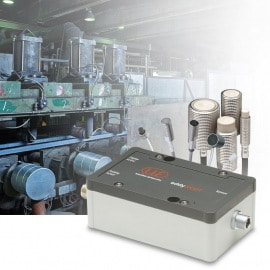 Compact eddy current sensor with small measurement range