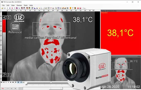TIM thermal imager for elevated body temperature detection