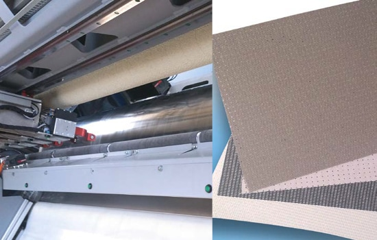 laser displacement measurement in fabric cutting