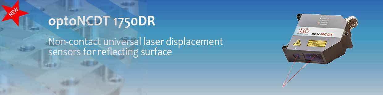 Non contact laser displacement sensor for measuring displacement on reflective objects