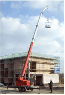 Measuring Jib extension on mobile cranes - Bestech Sensors and